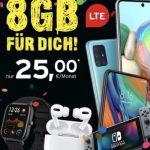 8GB Congstar Allnet Flat ab 20€ mit Handy ab 4,95€ | Telekom LTE Netz
