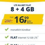 Freenet Mobile 12GB Vodafone LTE Flat für 16,99€ | monatlich kündbar und ohne Anschlussgebühr