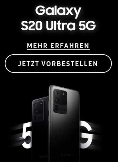 Samsung Galaxy S20 (5G) / S20 Ultra 5G / Z Flip vorbestellen ab 1€ mit Vertrag