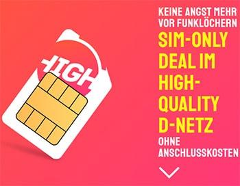 HIGH Mobile 3GB Telekom LTE Allnet Flat ab 10€ pro Monat   10GB Flat ab 15€   ohne Anschlussgebühr