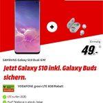 Galaxy S10 + Galaxy Buds für 49€ mit MD Green Vodafone 6GB LTE Tarif für 19,99€