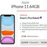 Vodafone Smart L Plus (bis zu 18GB) ab 36,99€ mit iPhone Xs für 4,95€   iPhone 11 ab 33,33€   Galaxy S20 ab 149€