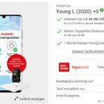 Vodafone Young L 40GB Flat (5G Netz Tarif) mit Handy ab 1€
