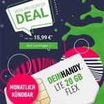 Deinhandy 20GB LTE o2 Allnet Flat für 15,99€ | ohne Laufzeit