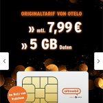 5GB Vodafone LTE Allnet Flat für 7,99€ mit 25€ Amazon Gutschein | Allmobil otelo