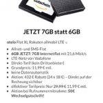 7GB Vodafone LTE Allnet Flat für 11,99€ + 30€ Amazon Gutschein | Allmobil otelo