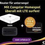 Congstar Homespot mit bis zu 125€ Amazon Gutschein + Huawei Hotspot