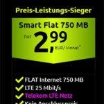 Crash Tarif: 750 MB Telekom LTE mit 100 Freiminuten für 2,99€ | für kurze Zeit