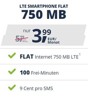 Freenet Mobile Smartphone Flat Tarife ab 3,99€ | Telekom oder Vodafone LTE Netz | monatlich kündbar
