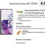 Klarmobil AllNet Flat Vodafone LTE (8GB) mit Apple iPhone 11 ab 4,99€ | Xiaomi Mi 9 ab 4,99€ | Galaxy S20 ab 4,99€