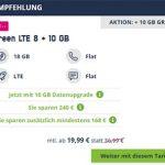 18GB Mobilcom Debitel Telekom LTE Allnet Flat für 19,99€