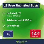 MD o2 Free Unlimited Basic (unbegrenztes Datenvolumen) für 14,99€