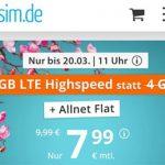 sim.de Allnet Flat mit 5GB für 7,99€   ohne Laufzeit und ohne Anschlussgebühr