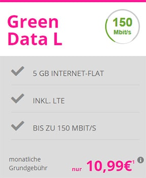 Mobilcom-Debitel Telekom Green Data L 5GB LTE für 10,99€ mit Apple AirPods ab 29€