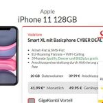 25GB LTE Vodafone Smart XL ab 41,99€ mit iPhone 11 ab 39,95€, iPhone Xs ab 4,95€, OnePlus 7T für 4,95€, Galaxy S20 ab 99€