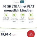 Mobilcom Debitel 40GB LTE o2 Allnet Flat Tarif für 19,99€ | ohne Laufzeit