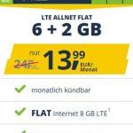 Freenet Mobile Vodafone LTE Allnet Flat Tarife ab 9,99€ | TOP-Deal: 8 GB für 13,99€ / 14 GB für 16,99€ | monatlich kündbar