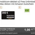 Mobilcom o2 Free Unlimited Max (unbegrenztes Datenvolumen) für 34,99€ mit 300€ Amazon Gutschein, Sonos One, Apple AirPods Pro ab 4,99€