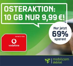 10GB Mobilcom Green LTE Allnet Flat für 9,99€ pro Monat | Vodafone LTE Netz
