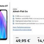 otelo Allnet Flat GO 5GB LTE für 14,99€ pro Monat mit Xiaomi Redmi Note 8T für 49,95€