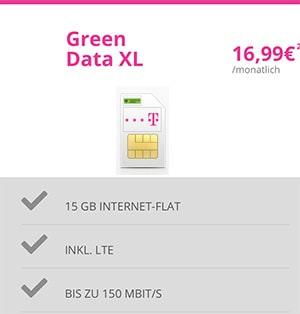 Mobilcom-Debitel Telekom Green Data XL 15GB LTE für 16,99€ mit Apple Airpods ab 15€