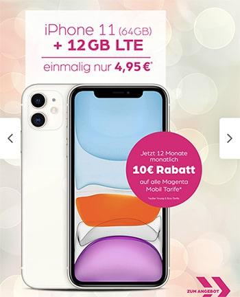 Telekom Magenta Mobil M (Young) Tarife (bis zu 24GB Flat) mit iPhone 11 ab 4,95€ | Galaxy S20 ab 4,95€ | Huawei P40 Pro für 4,95€