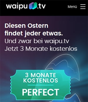 waipu.tv Perfect - 3 Monate gratis | monatlich kündbar