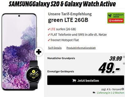 26GB Vodafone LTE Allnet Flat ab 29,99€ mit Apple iPhone 11 ab 79€, Galaxy S20 für 49€, Xiaomi Mi 10 Pro für 4,99€ uvm.