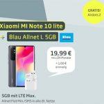 Blau Allnet L (bis zu 5GB LTE) ab 9,99€ mit Galaxy A41, Xiaomi Redmi Note 10 Lite, Google Pixel 3a, iPhone 8 ab 1€