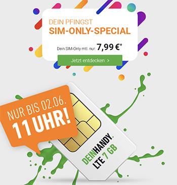 Deinhandy 7GB LTE o2 Allnet Flat für 7,99€ | ohne Laufzeit