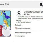 8GB Congstar Allnet Flat ab 20€ mit Huawei P30 für 9€, Google Pixel 3a für 49€ | Telekom LTE Netz