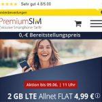 2GB PremiumSIM LTE Allnet Flat für 4,99€ | ohne Laufzeit
