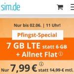 sim.de Allnet Flat mit 7GB für 7,99€ | ohne Laufzeit