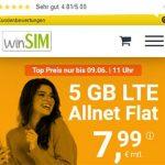 winSIM 5GB LTE Allnet Flat für 7,99€ | ohne Laufzeit