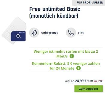 MD o2 Free Unlimited (unbegrenztes Datenvolumen) ab 19,99€ | mit und ohne Laufzeit