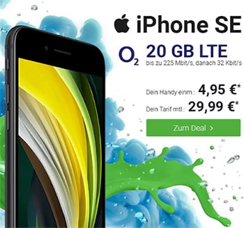 o2 Free M (20 GB LTE) ab 29,99€ mit Apple iPhone SE 2020, Google Pixel 4a, OnePlus Nord ab 4,95€ | Galaxy S20 ab 77€