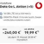 Vodafone DataGO L (16GB LTE) mit 240€ Auszahlung