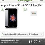 Apple iPhone SE für 15€ mit 5 GB Klarmobil Vodafone LTE Allnet Flat für 9,99€