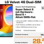 Saturn Super Select S 5GB LTE ab 14,99€ mit LG Velvet 4G für 28,27€   Xiaomi Redmi Note 9 für 0,97€