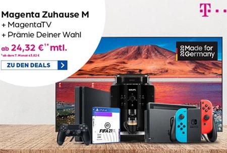 Telekom DSL MagentaZuhause Tarife mit Sony Playstation 5 ab 4,95€, 4k TV oder bis zu 360€ Auszahlung