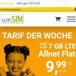 winSIM 7 GB LTE Allnet Flat für 9,99€ | ohne Laufzeit
