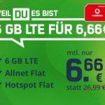 6GB LTE Vodafone Allnet Flat für 6,66€