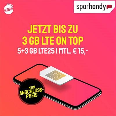 HIGH Mobile 5GB Telekom LTE Allnet Flat ab 10€ pro Monat | 12GB Flat ab 18€ | ohne Anschlussgebühr