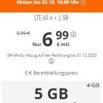 sim.de Allnet Flat mit 5 GB für 6,99€ | ohne Laufzeit
