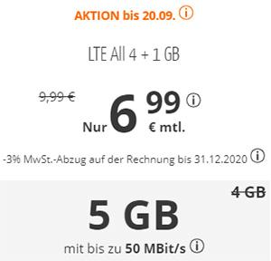 sim.de Allnet Flat mit 5 GB für 6,99€   ohne Laufzeit