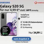 Vodafone Smart L Plus (bis zu 20GB) ab 34,99€ mit iPhone SE 2020 (256GB) für 4,95€ | iPhone 11 ab 4,95€ | Galaxy S20 ab 4,99€ | Huawei P30 Pro für 4,95