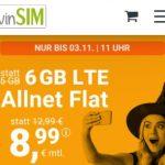 winSIM 6 GB LTE Allnet Flat für 8,99€ | 2GB Allnet Flat für 4,99€ | ohne Laufzeit