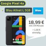 Blau Allnet L (bis zu 5GB LTE) ab 9,99€ mit iPhone SE, Google Pixel 4a, Xiaomi Redmi Note 9 Pro 128GB ab 1€