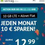10 GB LTE Allnet Flat für 12,99€ | 5 GB Allnet Flat für 6,99€ - Handyvertrag.de | ohne Laufzeit