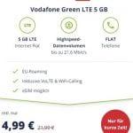 5 GB LTE Vodafone Allnet Flat für 4,99€